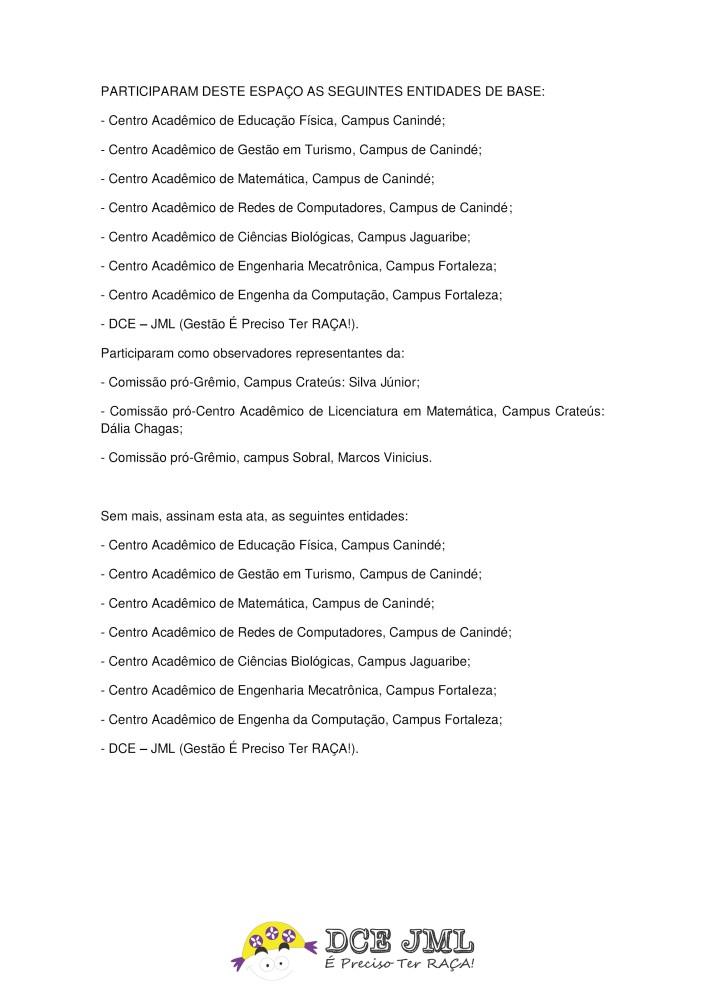 ATA DE REUNIÃO DE ENTIDADES DE BASE - PG4